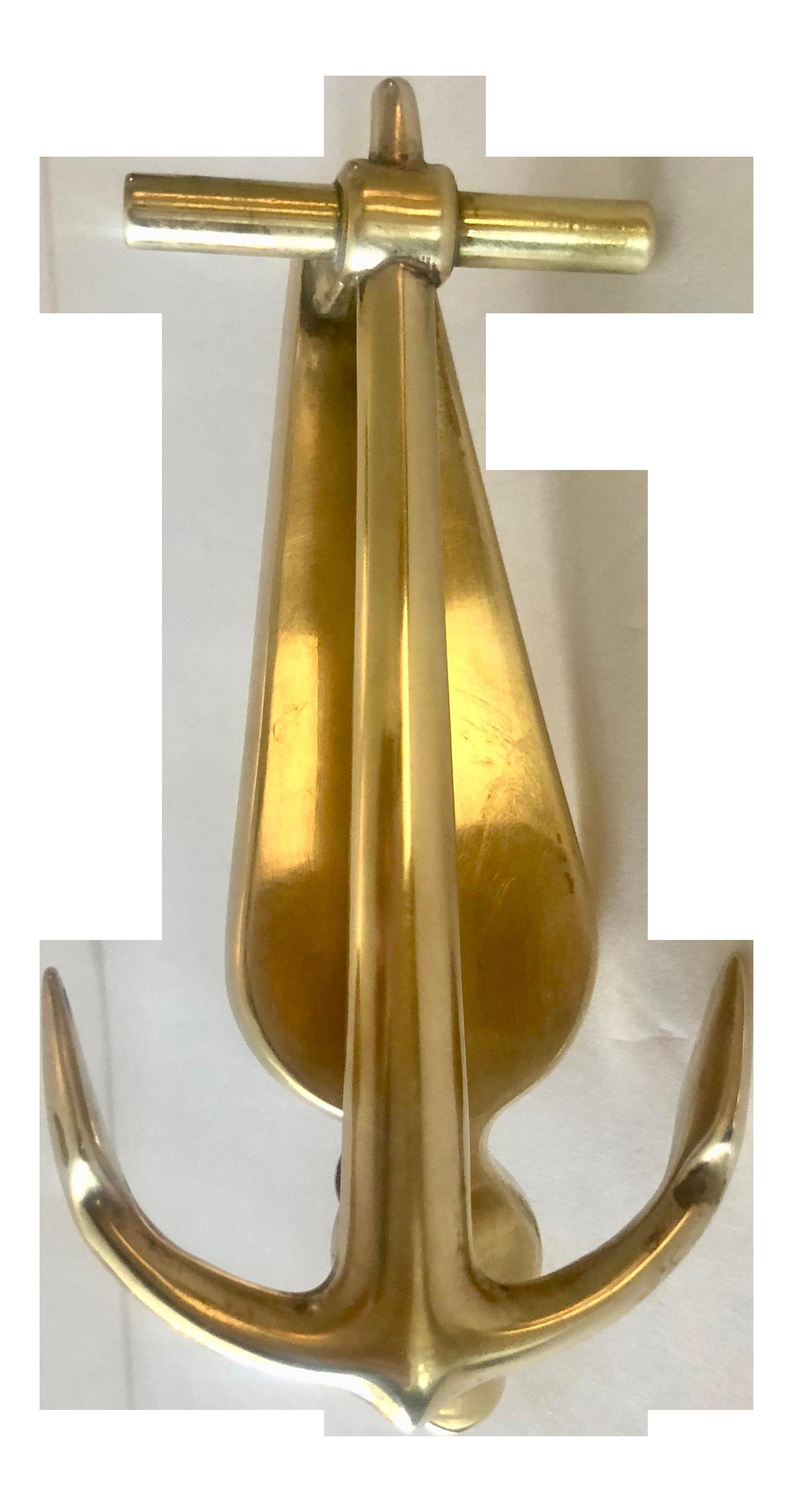 Vintage Brass Anchor Door Knocker