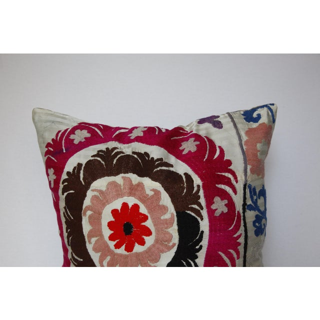 1970s 1970s Boho Chic Decorative Needlework Throw Sofa Pillow Cover For Sale - Image 5 of 12