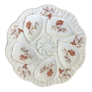 Antique 1900s Marx & Gutherz Carlsbad Oyster Plate For Sale