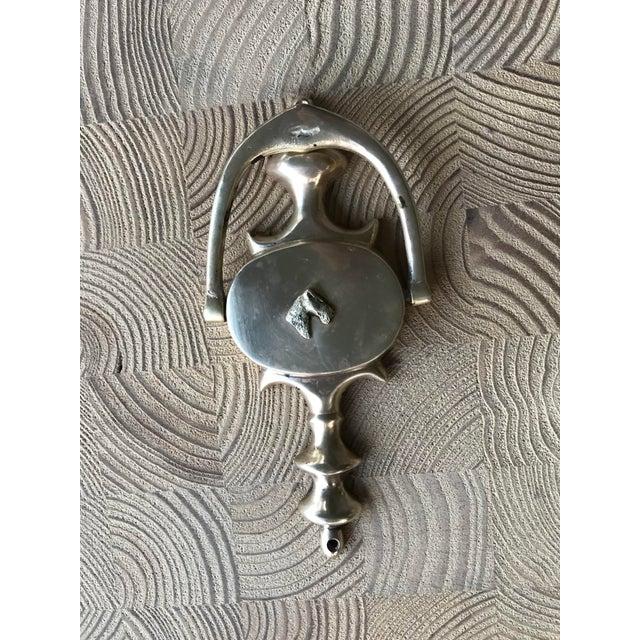 American Vintage Terrier Dog Solid Brass Door Knocker For Sale - Image 3 of 12