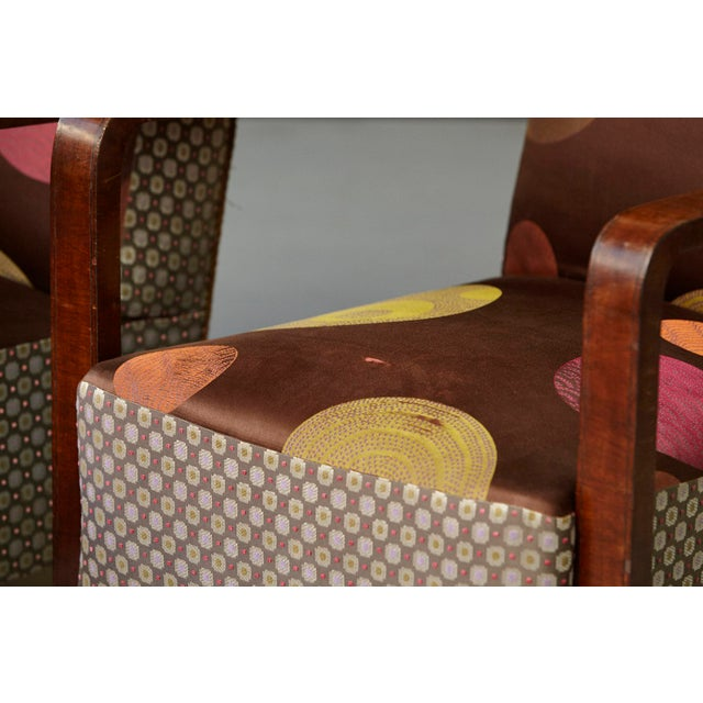 Brown Pair of 1920s Art Deco Lounge Chairs from Buenos Aires For Sale - Image 8 of 11