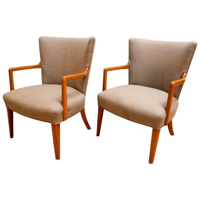 Mid-Century Modern Lounge Chairs - Pair - Image 1 of 10