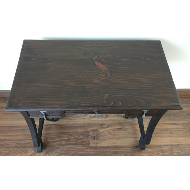 Exceptional Spanish 19th century side table with three drawers - Image 5 of 10