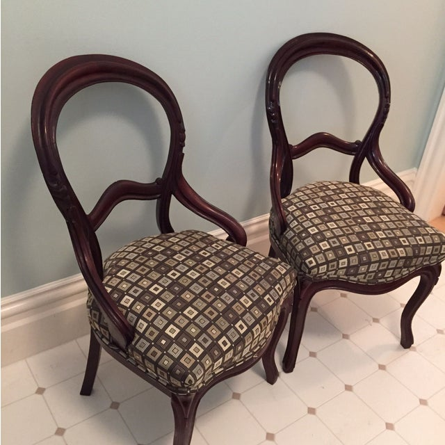 Victorian Side Chairs - A Pair - Image 2 of 3