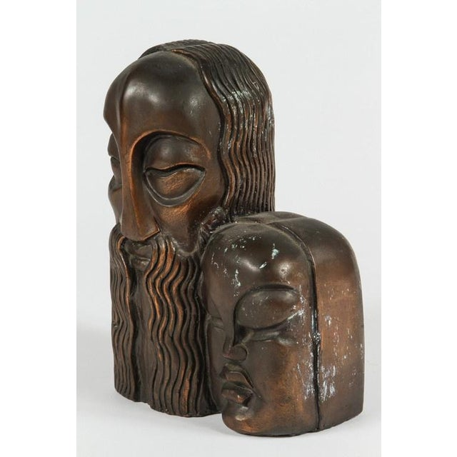 Art Deco Figural Bronze Bookends - A Pair For Sale In Los Angeles - Image 6 of 8