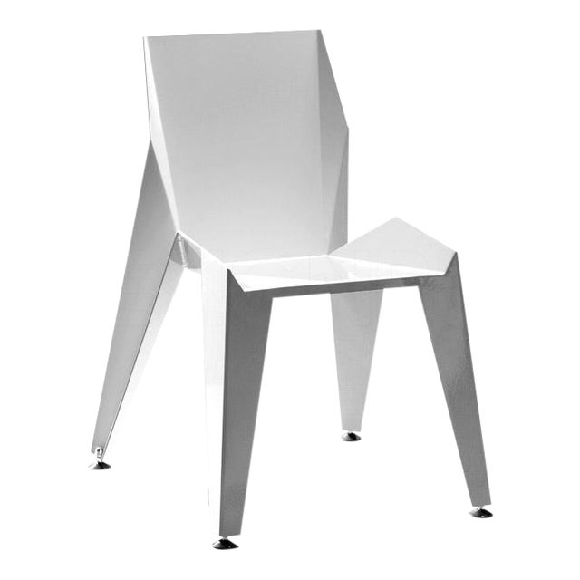 Origami Inspired Edge White Chair | Indoor & Outdoor Chair For Sale