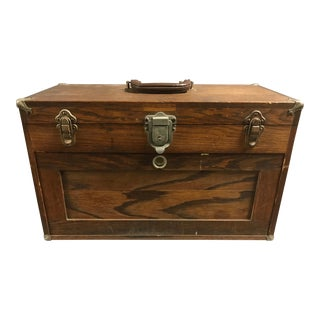 Vintage Six Drawer Wooden Jewelers or Gunsmith Box For Sale