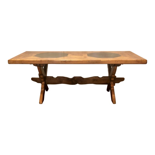 Antique French Provincial Farm Table From Pyrenees Woodlands, Circa 1910-1920. For Sale