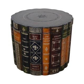 Maitland Smith Faux Book Round Leather Box For Sale