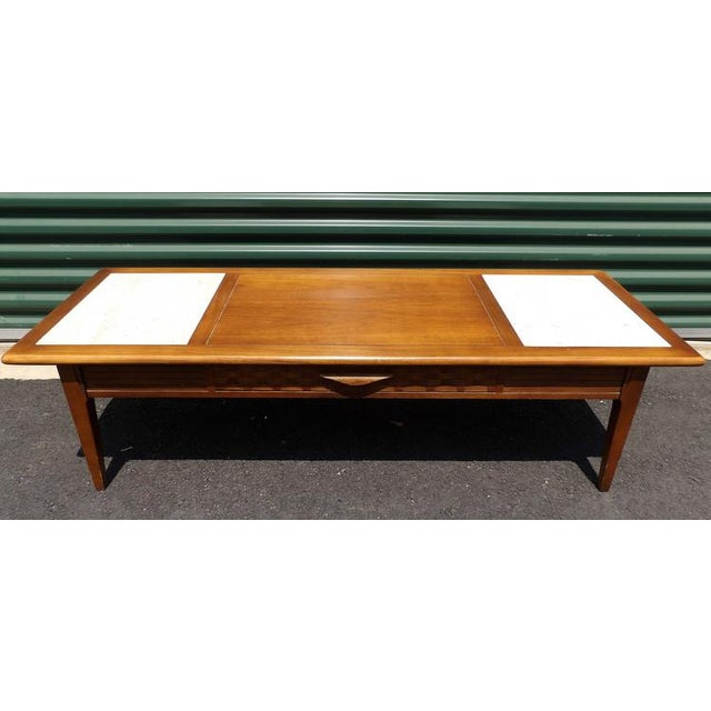 Lane Maple With Marble Insets Coffee & End Table Living Room Group - 3 Pc. Set For Sale In Sacramento - Image 6 of 11