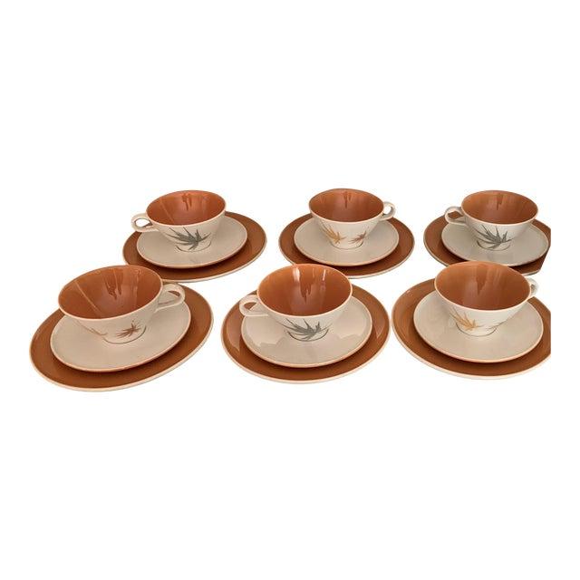 "Vintage Iroquois China ""Harvest Time"" Coffee/Tea/Dessert Set Service for 6 (18 Piece Set) For Sale"