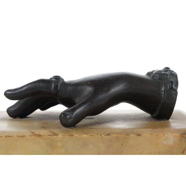 19th C. Bronze Female Hand with Ring Sculpture For Sale - Image 9 of 9