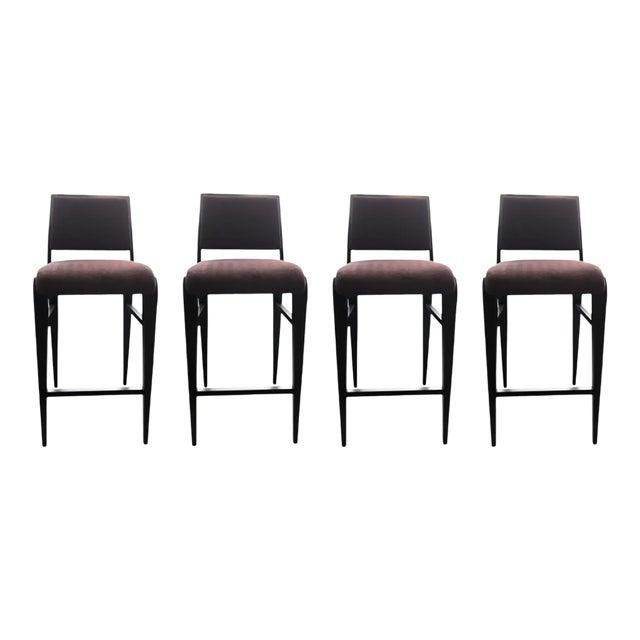 Contemporary Custom Bar Stools - Set of 4 For Sale