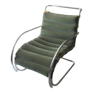Vintage Mies Van Der Rohe Style Lounge Chair by Gordon International For Sale