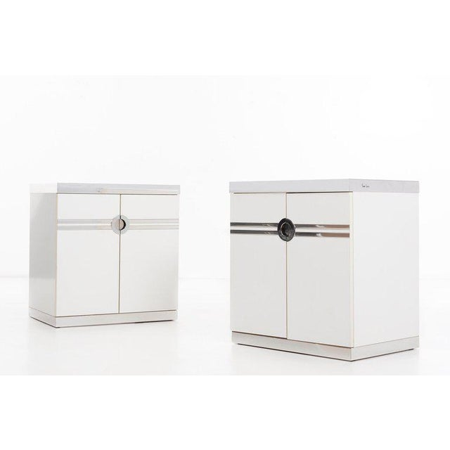 Modern Pierre Cardin Pair of Nightstands For Sale - Image 3 of 13
