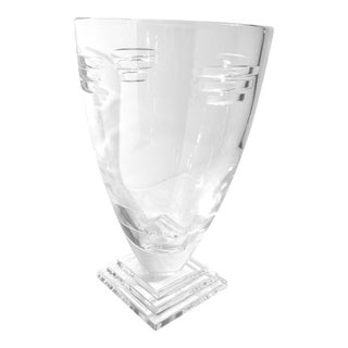 Waterford Germany Metropolitan Square Foot Vase For Sale