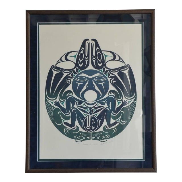 Large Framed First Nations Print by Susan A. Point For Sale