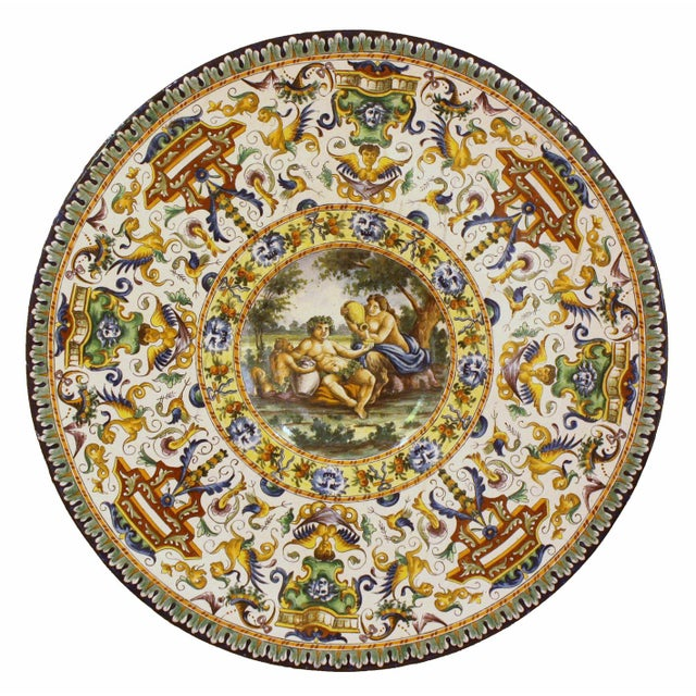 Italian Renaissance-Style Majolica Chargers With Images After Annibale Carracci (1560-1609) - Image 8 of 13