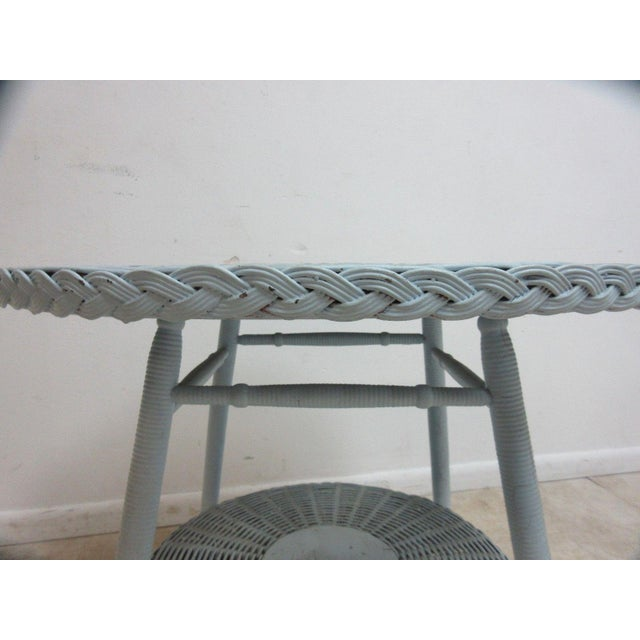 Antique Victorian Wicker Patio Dinette Table For Sale In Philadelphia - Image 6 of 8