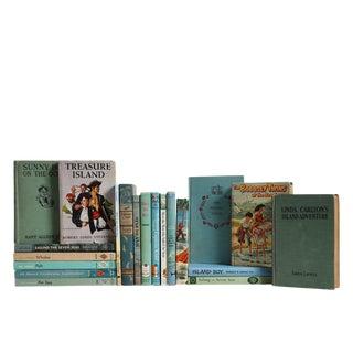 Vintage Ocean Nautical Kids Book Set, S/20 For Sale