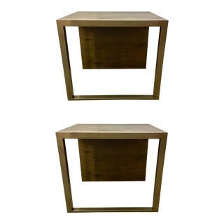 Modern Organic Caracole Artisan End Tables Pair For Sale