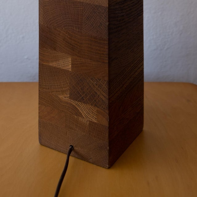 Jane and Gordon Martz Wood Lamp For Sale In San Diego - Image 6 of 9
