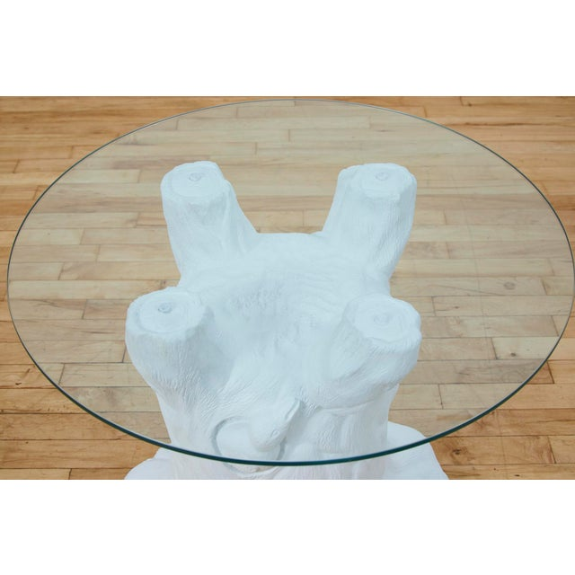 Vintage Plaster Tree Trunk Side Table For Sale In Los Angeles - Image 6 of 13