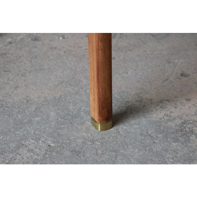 Edward Wormley for Dunbar Walnut Cantilever Wedge End Table, 1950s For Sale - Image 10 of 13