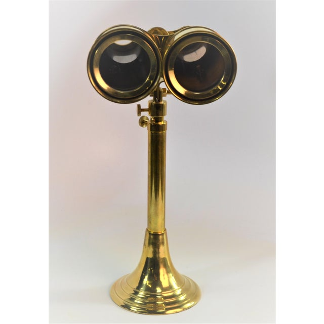Bungalow 5 Niels Brass Binoculars With Stand For Sale - Image 9 of 9