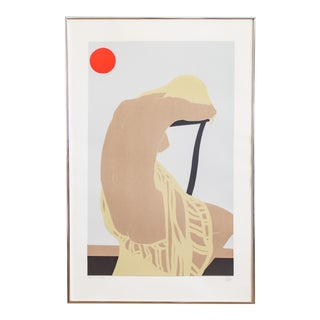Nude Color Block Linocut Print | Nicole by Georg Rauch | Signed and Numbered For Sale