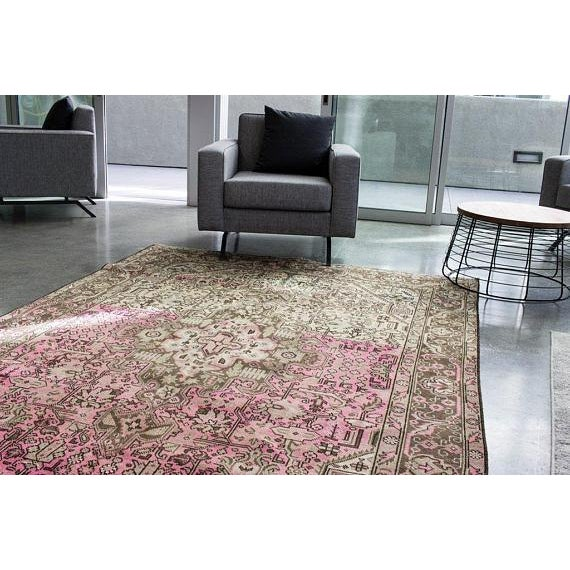 """Vintage Persian Area Rug - 6'5"""" x 9'3"""" - Image 5 of 11"""