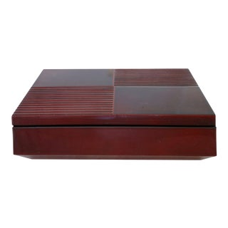 1980's Chinese Red Lacquered Box For Sale