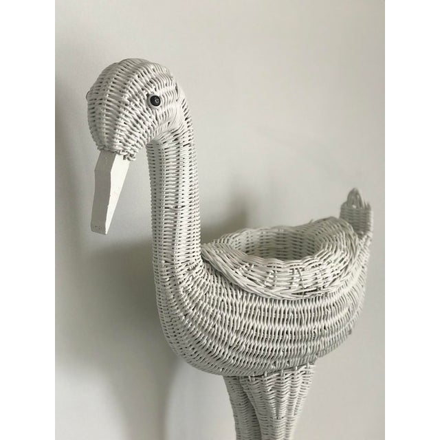 Add a touch of whimsy to your room with this vintage wicker planter. This would make a great accent to a room or even...