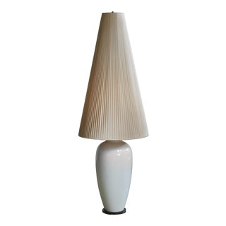 White Porcelain Table or Floor Lamp by Kpm, Germany, 1950s For Sale