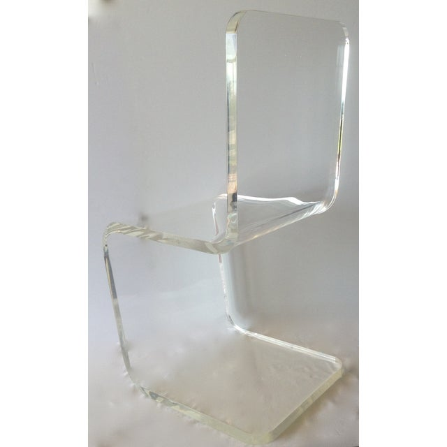 Vintage Lucite Sculptural Accent Chair For Sale In West Palm - Image 6 of 11