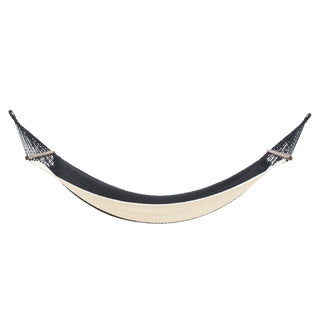 Vero Hammock in Charcoal Color Block With Walnut Rods For Sale