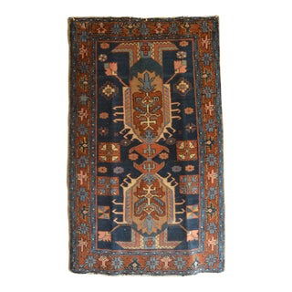 1920s Antique Heriz Rug - 2′9″ × 4′6″ For Sale