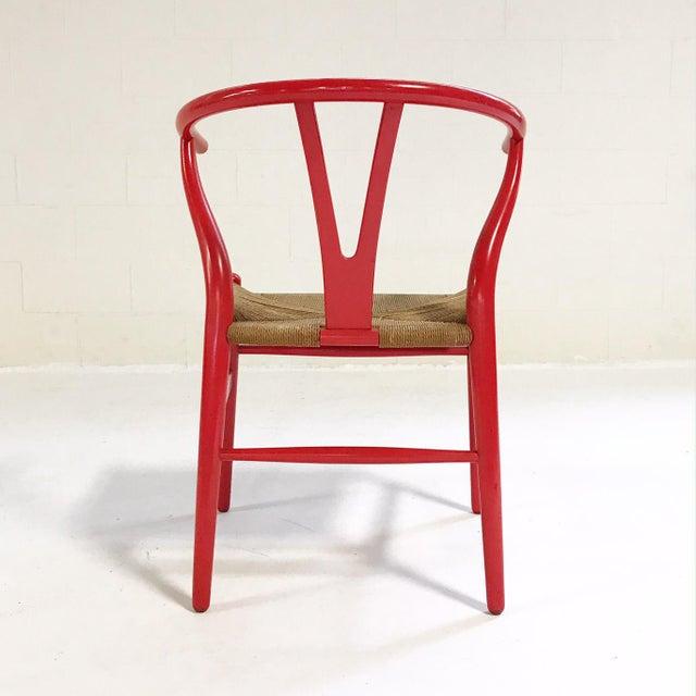 1980s Vintage Hans Wegner Model Ch24 Wishbone Chair For Sale - Image 5 of 8
