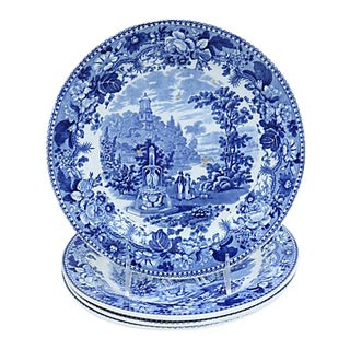 1830s Staffordshire Dinner Plates - S/4 For Sale