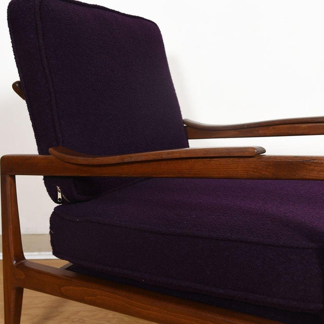Edmond Spence Mid-Century Modern Walnut Club Chairs - a Pair For Sale - Image 12 of 13