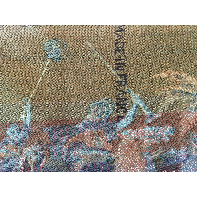 Orientalist Arabs on Horse Hunting Scene Tapestry For Sale In Los Angeles - Image 6 of 7