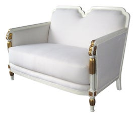 Image of Antique White Settees