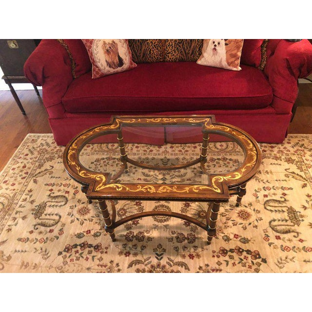 Gold Francesco Molon Coffee Table by Gimme Furniture Co. Finely Inlaid For Sale - Image 8 of 11