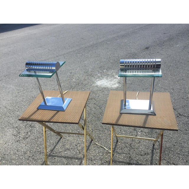 Mid-Century Modern Modern Chrome Lamps - a Pair For Sale - Image 3 of 12