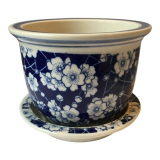 Modern Small Chinoiserie Fishbowl Planter For Sale