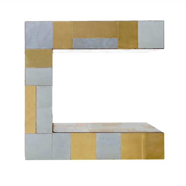 Yellow Paul Evans Cityscape Side Table For Sale - Image 8 of 8