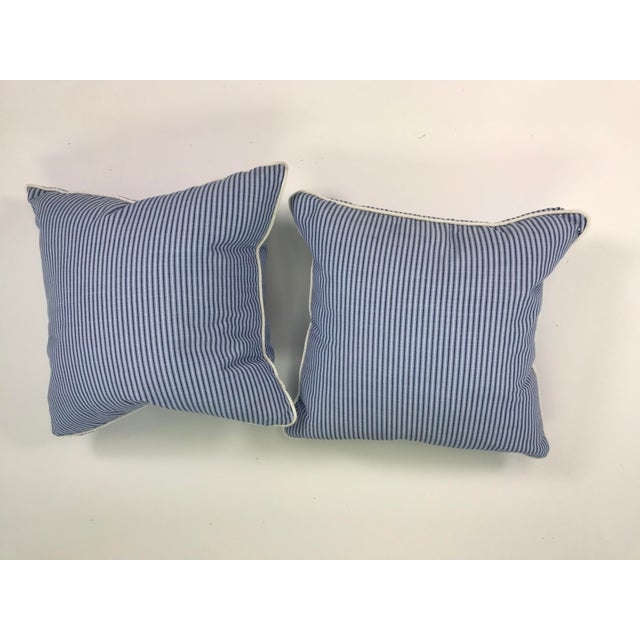 "Scalamandre 18"" Scalamandre Stripe Outdoor Pillows - A Pair For Sale - Image 4 of 4"