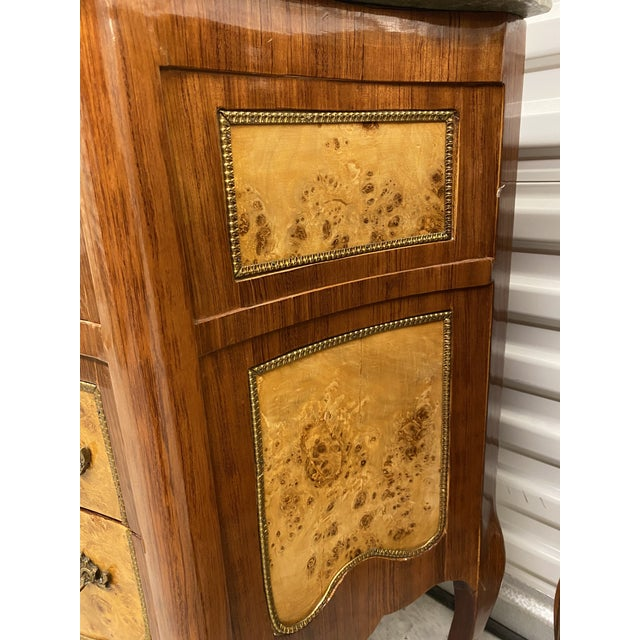 Vintage French Marble Top Nightstands - a Pair For Sale - Image 11 of 12