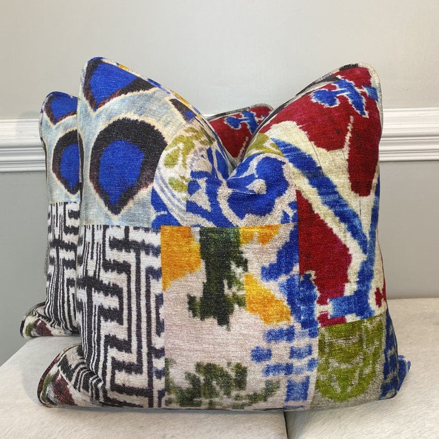 """""""Haute Bohemian"""" in Red 22"""" Pillows-A Pair For Sale - Image 10 of 10"""