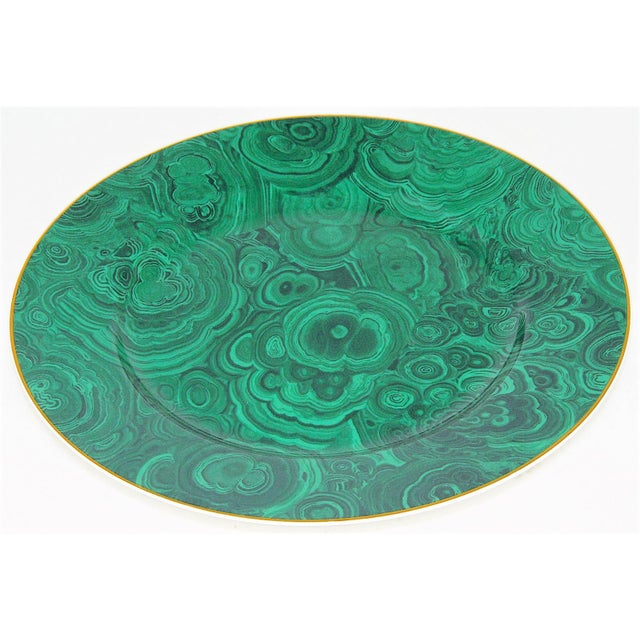 Vintage Neiman Marcus Emerald Green Malachite Serving Plate For Sale - Image 4 of 10